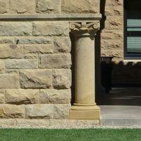 column, wall